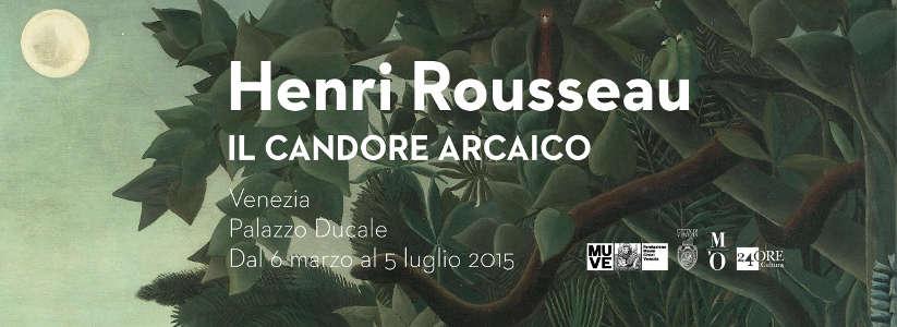 "Banner ""Henri Rousseau. Il Candore Arcaico"" a Palazzo Ducale"
