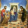 Vincenzo Catena Madonna con Bambino in trono tra i Santi Marco e Giovanni Battista e il doge Leonardo Loredan (1501-1521) 1505-1507 Olio su tavola, cm 145 x 139 Museo Correr