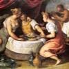 Mostra Acqua e cibo a Venezia, Palazzo Ducale, Jacopo Palma il Giovane Gli svaghi del figliuol prodigo 1595-1600 olio su tela cm 83x118 Venezia, Gallerie dell'Accademia