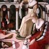 """Vittore Carpaccio, """"Dame Veneziane"""" (Le cortigiane), tempera e olio su tavola, 1490-1495"""