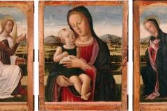 Lazzaro Bastiani (attribuito), Annunciazione e Madonna col Bambino (trittico), 1490
