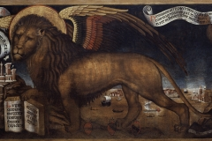 Donato Bragadin, Il leone di San Marco tra San Girolamo  e San Agostino, 1459