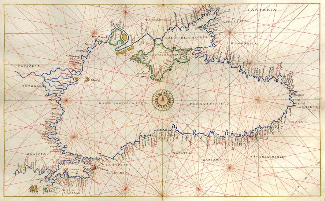Battista Agnese Atlante nautico in nove carte, 1550 c.