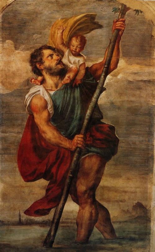 Tiziano Vecellio (1490 - 1576)_San Cristoforo